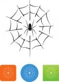 Spider web vector icon
