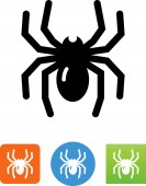 Spider symbol for download Vector icons for video mobile apps Web sites and print projects