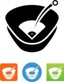 Baseball park home run vector icon