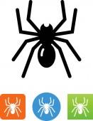Spider bug vector icon