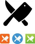 Butcher knives vector icon