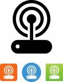 Wireless Modem With Signal Icon