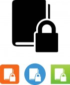 Book with DRM protection vector icon