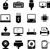 Computer and technology vector icons