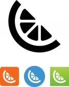 Fruit wedge vector icon