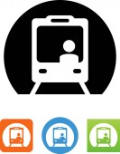 Train subway vector icon