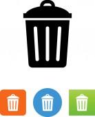 Trash bin with lid vector icon