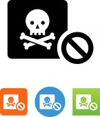 Stop piracy vector icon