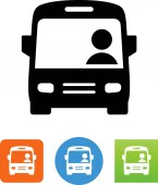 Bus with driver vector icon