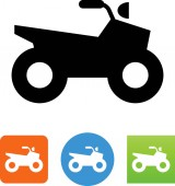 All terrain vehicle ATV vector icon