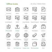 Office Icons - Outline vector illustration