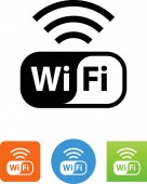 Wireless connection WiFi symbol