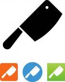 Butcher knife vector icon