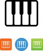Piano keyboard vector icon