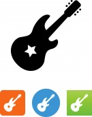 Electric guitar vector icon