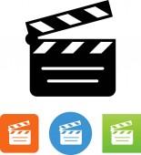 Clapper board vector icon