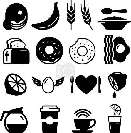 Śniadanie żywności wektor ikony