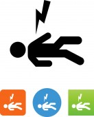 Electrocution symbol for download Vector icons for video mobile apps Web sites and print projects