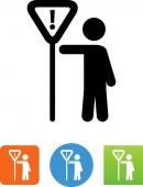 Men working vector icon