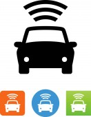 Automobile GPS signal vector icon