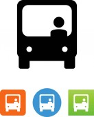 Bus icon with driver vector icon