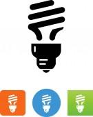 CFL lightbulb vector icon