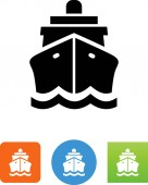 Ship front view vector icon
