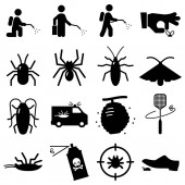 Bug and pest exterminators vector icons