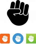 Hand fist vector icon