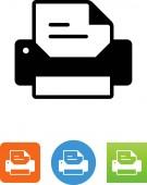 Desktop printer vector icon