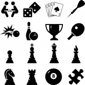 Game entertainment vector icons