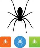 Creepy spider vector icon