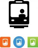Lightrail train vector icon