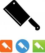 Kitchen butcher knife vector icon