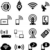 Mobile and wireless vector icons