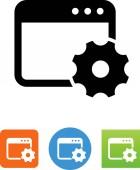 Site optimization vector icon