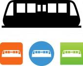 Modern train subway vector icon
