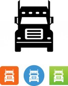 Truck front view vector icon