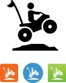 Person riding an ATV vector icon