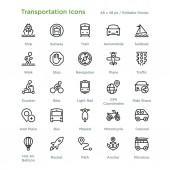 Transportation Icons - Outline vector illustration