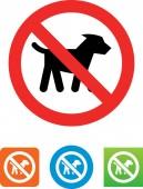 No dogs vector icon