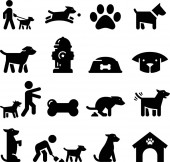 Dogs and puppy vector icons