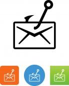 Phishing spam vector icon