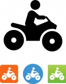 Person riding ATV vector icon