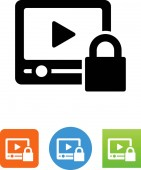 Video Player with DRM protection icon
