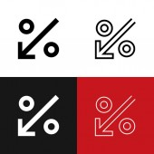 Percent Down Icon Set