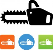 Chain saw vector icon
