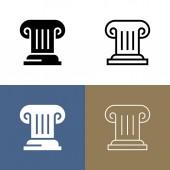 Greek Column / History Icon Set