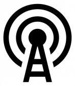 Broadcast Tower With Transmission Signal Icon