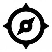Compass Orientation Vector Icon